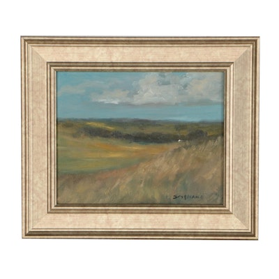 L. Stephano Oil Painting of Impressionistic Landscape
