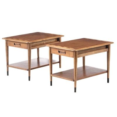 "Mid Century Modern Lane ""Acclaim"" Walnut End Tables, Mid-20th Century"