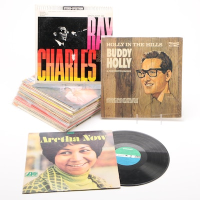Rock and Soul Records Including Buddy Holly, Ray Charles, Aretha, and more