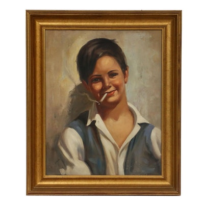 Vitale Portrait of a Young Man Oil Painting