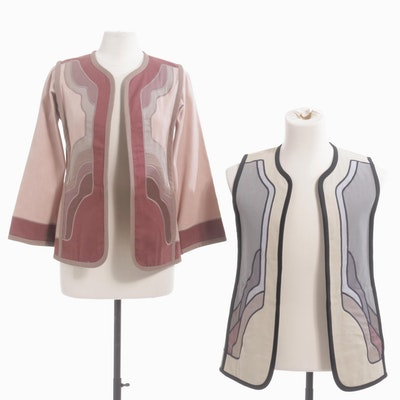 G. Girvin of Seattle Art Nouveau Style Reversible Art-to-Wear Blazers