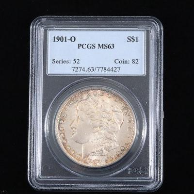 PCGS Graded MS63 1901-O Silver Morgan Dollar