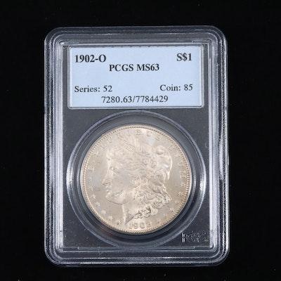 PCGS Graded MS63 1902-O Silver Morgan Dollar