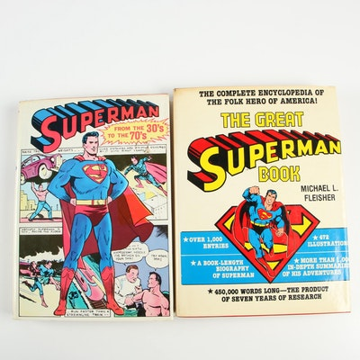 "Superman Books including 1978 ""The Great Superman Book"" by Michael L. Fleisher"