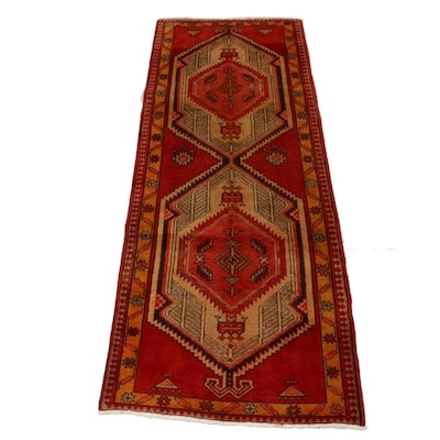 3'7 x 9'6 Hand-Knotted Persian Serab Carpet Runner, circa 1950s