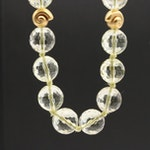 14K Yellow Gold Citrine Beaded Necklace