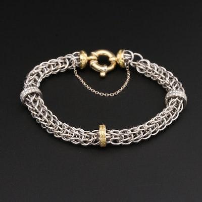 Platinum and 18K Yellow Gold 1.73 CTW Diamond Bracelet