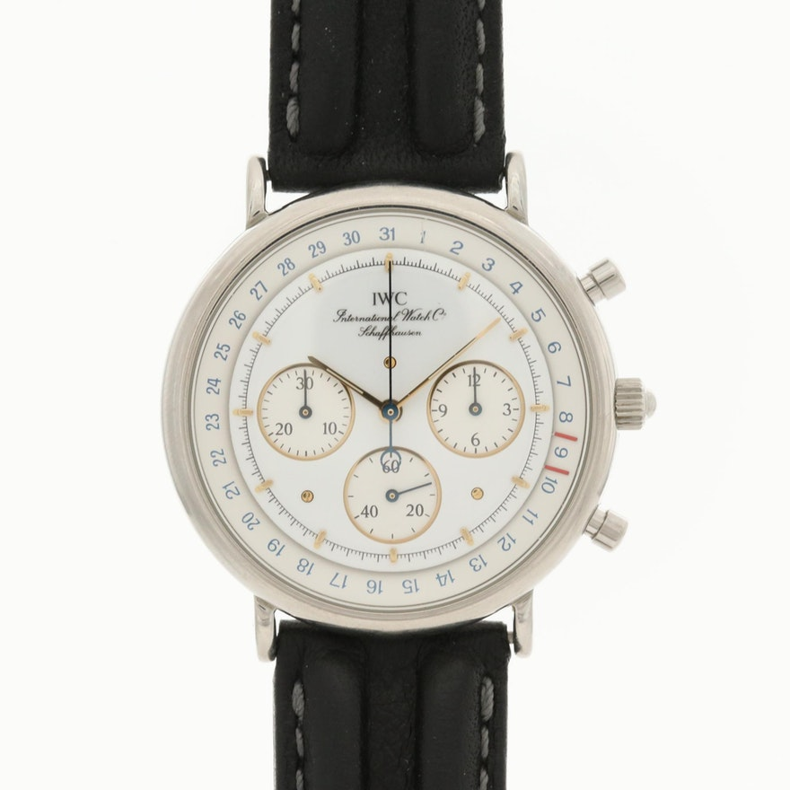 IWC Portofino Stainless Steel Quartz Chronograph Wristwatch