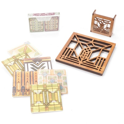 Frank Lloyd Wright Collection Trivet, Night Light, Coasters and Playing Cards