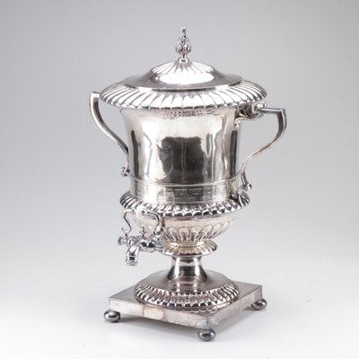 English Silver Plate Samovar, Late 19th / Early 20th Century