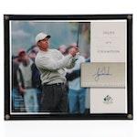 """Tiger Woods Upper Deck """"SP Signature Golf"""" Card  COA"""