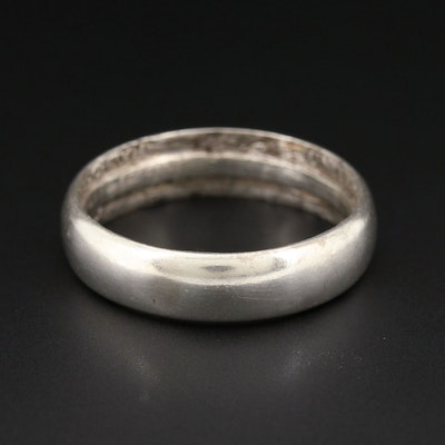 Vintage 900 Silver Converted 1942 Walking Liberty Half Dollar Coin Ring