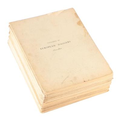 "Illustrated ""Catalogue of European Daggers 1300 - 1800"" by Bashford Dean, 1929"