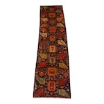 2'5 x 9'2 Hand-Knotted North West Persia Carpet Runner, circa 1960s