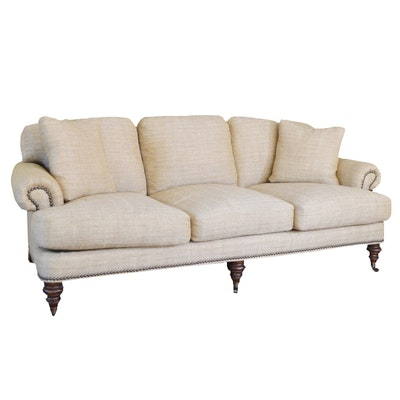 Wesley Hall Woven Tweed Sofa, Contemporary