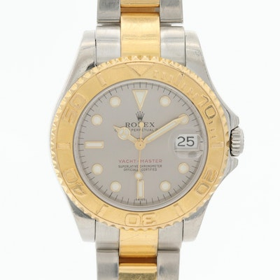 Rolex Yachtmaster Midsize 18K Yellow Gold and Stainless Steel Wristwatch, 1999
