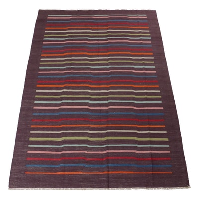 6'8 x 8'3 Handwoven Turkish Kilim Rug, circa 1990s