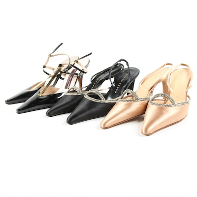 Richard Tyler Embellished Slingbacks and Rickard Shah Patent Leather Heels