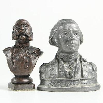 Base Metal Busts Including George Washington