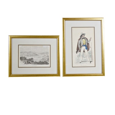 "Etchings ""Cincinnati"" and ""Vue de Cincinnati"""