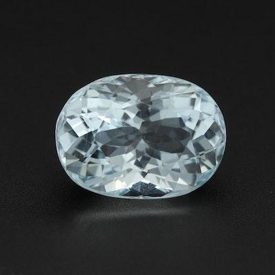 Loose 3.48 CT Aquamarine Gemstone
