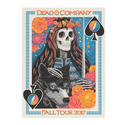 "John Vogle Serigraph Poster for ""Dead & Company, Fall Tour 2017"""