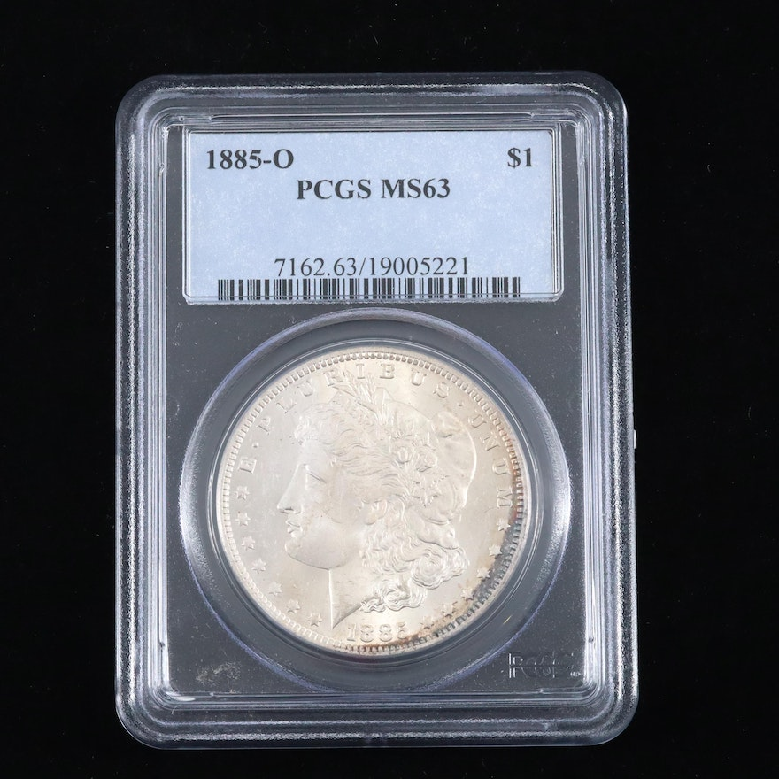 PCGS Graded MS63 1885-O Silver Morgan Dollar