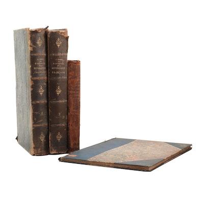 """French Language Books feauring 1845 """"Histoire de la Révolution Française"""""""