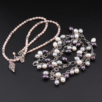 Sterling Silver Cultured Pearl Necklaces