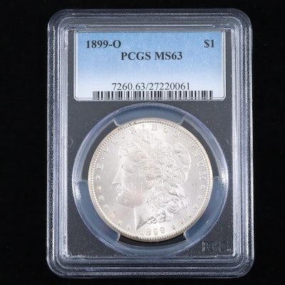 PCGS Graded MS63 1899-0 Silver Morgan Dollar