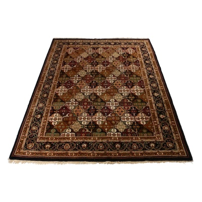 8'8 x 11'6 Hand-Knotted Indo Persian Tabriz Rug, 1990s