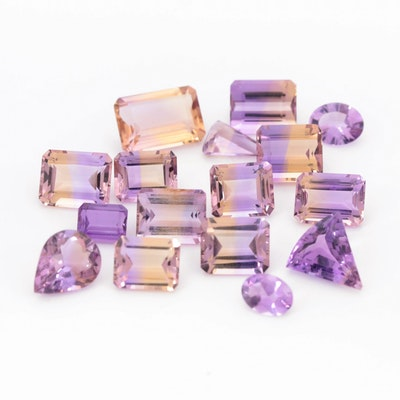 Loose 53.30 CTW Ametrine and Amethyst Gemstones