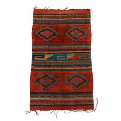 1'9 x 3'1 Hand-Woven Turkish Kilim Rug, circa 1960