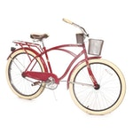 Huffy Men's Red Nel Lusso Cruiser Bicycle, Contemporary