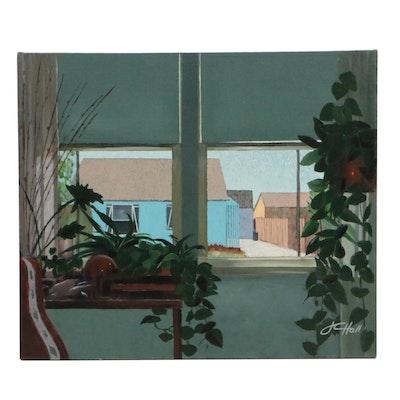 "J.C. Hall Acrylic Painting ""Margaret's House"""