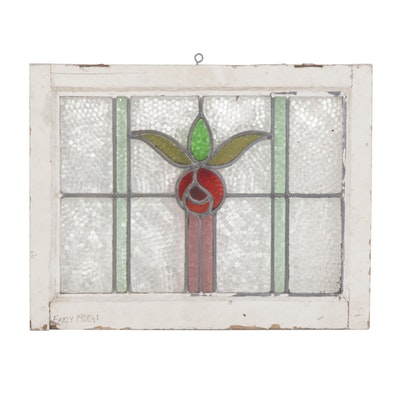 Stained Glass Window Frame, Early to Mid 20th Century
