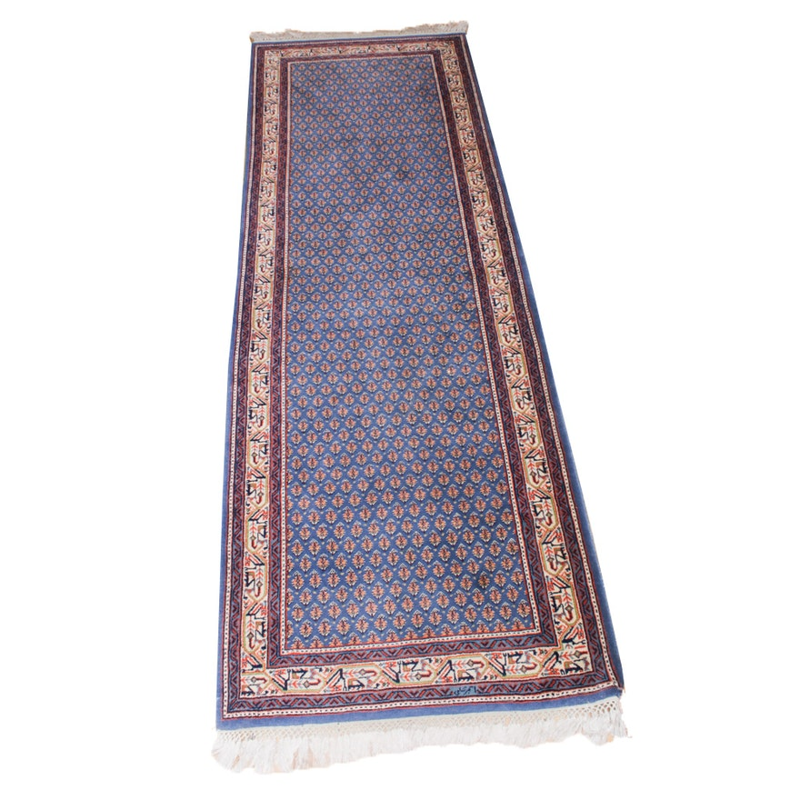 2'10 x 9'6 Hand-Knotted Persian Malayer Runner Rug, Vintage