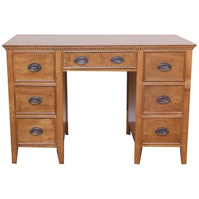 Hepplewhite-Style Kneehole Desk, Mid-20th Century