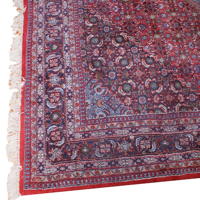 8'4 x 10'7 Hand-Knotted Persian Malayer Room-Size Rug, Vintage