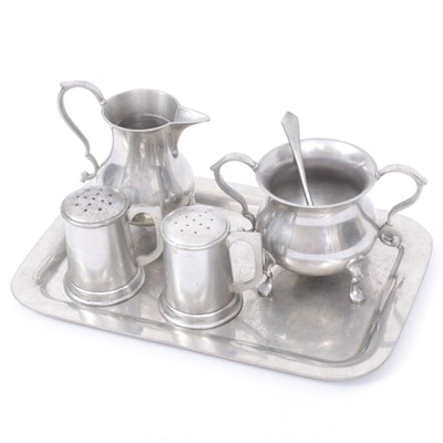 "Steiff ""Williamsburg"" Pewter Serveware, Mid-Century"