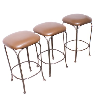 Wrought Metal Bar Stools, Contemporary