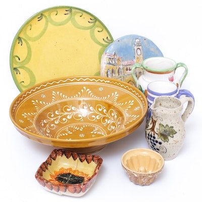 Hand-Painted European Pottery and Ceramics