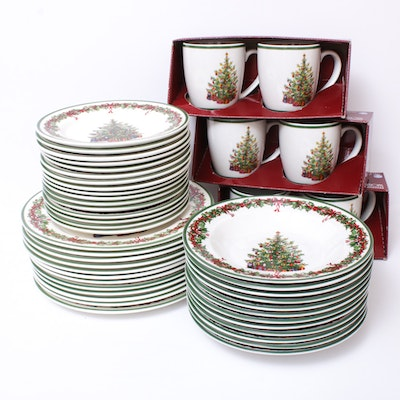 "Christopher Radko ""Holiday Celebrations"" Ceramic Dinnerware and Coffee Mugs"