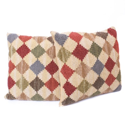 Grandin Road Woven Kilim Wool Blend Throw Pillows
