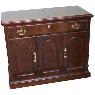 Drexel, Mahogany-Finish Sideboard with Folding Top, 20th Century