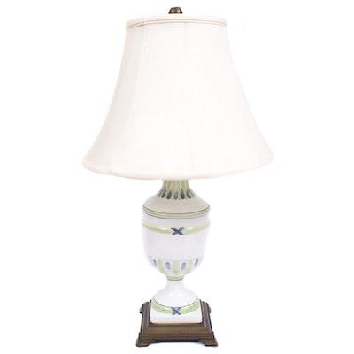 Wildwood Hand-Painted Majolica Urn Lamp
