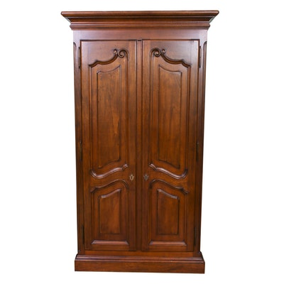 Chippendale-Style Mahogany Armoire, Contemporary