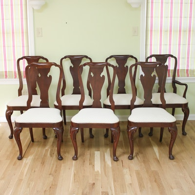 Baker Queen Anne-Style Mahogany Dining Chairs, Late 20th Century
