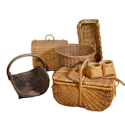 Wicker Picnic Baskets and Other Baskets
