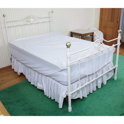 Victorian-Style Queen Tubular Cast Metal Bed Frame